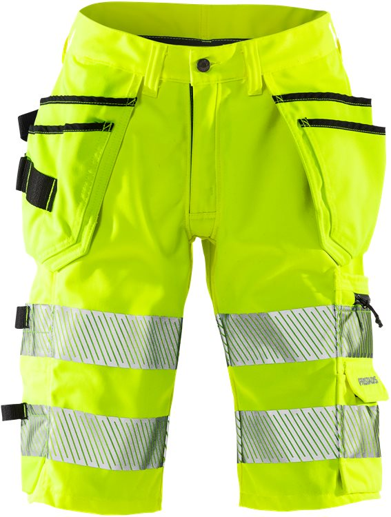 "High Vis Stretch-Shorts, Damen Kl.1 2529 PLU ""kurze Hose"""